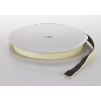 155-91-750, Pressure Sensitive Adhesive Coin Loop Fastener, 3/4 Diameter x 25 yds Length, Black, Mega Safety Mart