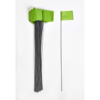 Wire Marking Flags, 2.5'x 3.5'x 21', Glow Lime (Pack of 1000)