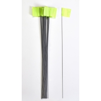 Wire Marking Flags, 2.5'x 3.5'x 30', Glow Lime (Pack of 1000)