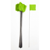 Wire Marking Flags, 4'x 5'x 30', Glow Lime (Pack of 1000)