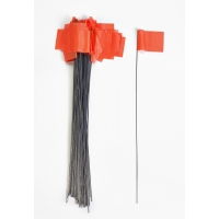 Wire Marking Flags, 2.5'x 3.5'x 21', Glow Orange (Pack of 1000)