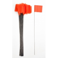 Wire Marking Flags, 4'x 5'x 30', Glow Orange (Pack of 1000)