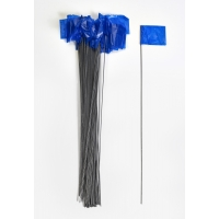 Wire Marking Flags, 2.5'x 3.5'x 21', Blue (Pack of 1000)