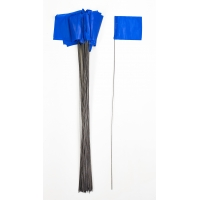Wire Marking Flags, 4'x 5'x 30', Blue (Pack of 1000)