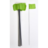 15901-39-21, Wire Marking Flags, 2.5x 3.5x 21, Green (Pack of 1000), Mega Safety Mart