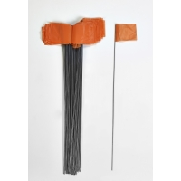 Wire Marking Flags, 2.5'x 3.5'x 21', Orange (Pack of 1000)