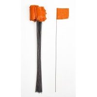 15901-45-4, Wire Marking Flags, 4x 5x 30, Orange (Pack of 1000), Mega Safety Mart