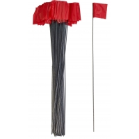 Wire Marking Flags, 2.5'x 3.5'x 21', Red (Pack of 1000)
