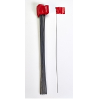 Wire Marking Flags, 2.5'x 3.5'x 30', Red (Pack of 1000)