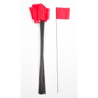 Wire Marking Flags, 4'x 5'x 30', Red (Pack of 1000)