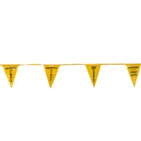 Printed Pennant Banner Flags, 60', Yellow (pack of 10)