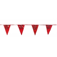 Printed Pennant Banner Flags, 60', Red(pack of 10)