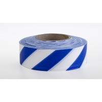 Flagging Tape Ultra Standard, 1-3/16' x 100 YDS, Blue and White Stripe (Pack of 12)