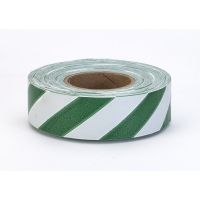 Flagging Tape Ultra Standard, 1-3/16' x 100 YDS, Green and White Stripe (Pack of 12)