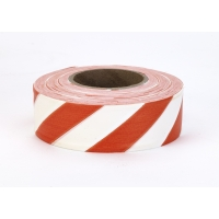 16002-245-1875, Flagging Tape Ultra Standard, 1-3/16 x 100 YDS, Orange and White Stripe (Pack of 12), Mega Safety Mart