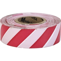 Flagging Tape Ultra Standard, 1-3/16' x 100 YDS, Red and White Stripe (Pack of 12)