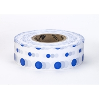 Flagging Tape Ultra Standard, 1-3/16' x 100 YDS, Blue and White Dot (Pack of 12)
