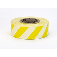 Flagging Tape Ultra Standard, 1-3/16' x 100 YDS, Yellow and Black Stripe (Pack of 12)