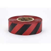 Flagging Tape Ultra Standard, 1-3/16' x 100 YDS, Red and Black Stripe (Pack of 12)