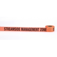 Flagging Tape Printed 'Streamside Management Zone', 1-1/2' x 50 YDS, Glow Orange (Pack of 9)