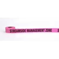 Flagging Tape Printed 'Streamside Management Zone', 1-1/2' x 50 YDS, Glow Pink (Pack of 9)