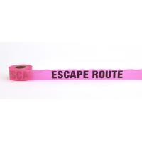 Flagging Tape Printed 'Escape Route', 1-1/2' x 50 YDS, Glow Pink (Pack of 9)