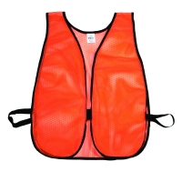 High Visibility Soft Poly Mesh Plain Safety Vest, Orange