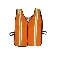 High Visibility Cotton ASTM 1506 Flame Retardant Welders Safety Vest with Hook and Loop Closure, Large, Orange