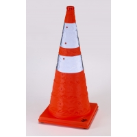 Nylon Collapsible Traffic Cone, 28' Height, Orange -1PK
