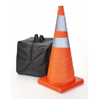 Nylon Collapsible Traffic Cone, 28' Height, Orange -5PK