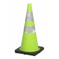 Traffic Cone with 7 lbs Reflective, 28' Height, Lime