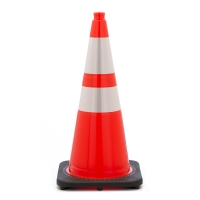 Traffic Cone with 7 lbs Reflective, 28' Height, Orange