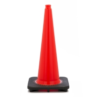 Traffic Cone with 7 lbs Plain Finish, 28' Height, Orange