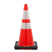 Traffic Cone with 10 lbs Reflective, 28' Height, Orange