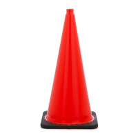Traffic Cone with 10 lbs Plain Finish, 28' Height, Orange