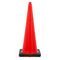 Traffic Cone with 10 lbs Plain Finish, 36' Height, Orange