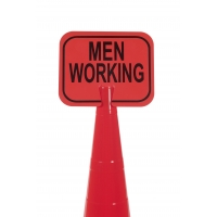 Cone Sign, Men Working
