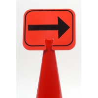 Cone Sign, Right Arrow