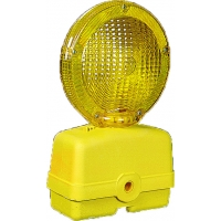 Traffic Barricade Flasher with 7 in. Polycarbonate Fresnel Lens, Yellow
