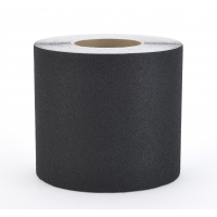 Aluminum Oxide Non Skid Abrasive Safety Tape, 60' Length x 6' Width, Black