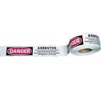 Barricade Tape, Asbestos Hazard, 3 Color, 3' x 1000', (Pack of 8)