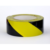 PVC Vinyl Hazard Stripe Tape, 7 mil, 2' x 18 yd., Yellow/Black Stripe (Pack of 24)