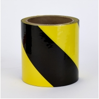 PVC Vinyl Hazard Stripe Tape, 7 mil, 3' x 18 yd., Yellow/Black Stripe (Pack of 16)