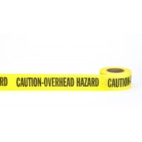 Repulpable Tape, 'Caution Overhead Hazard', 3' x 45 YDS, Yellow (Pack of 20)