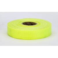 17772-139-1000, Vinyl Coated Nylon Reinforced Fluorescent Barricade Tape, 1 x 50 yd., Glo Lime (Pack of 10), Mega Safety Mart
