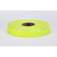 Vinyl Coated Nylon Reinforced Fluorescent Barricade Tape, 3/4' x 50 yd., Glo Lime (Pack of 10)