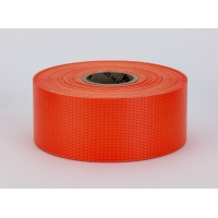 Vinyl Coated Nylon Reinforced Fluorescent Barricade Tape, 4' x 50 yd., Glo Orange (Pack of 3)