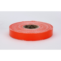 Vinyl Coated Nylon Reinforced Fluorescent Barricade Tape, 3/4' x 50 yd., Glo Orange (Pack of 10)