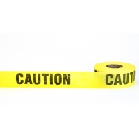 'Caution' Biodegradable Barricade Tape, 3' x 500', Yellow