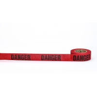 'Danger' Biodegradable Barricade Tape, 3' x 500', Red